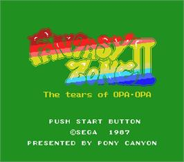 Title screen of Fantasy Zone 2 on the MSX 2.