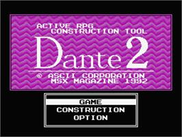 Title screen of Gauntlet on the MSX 2.