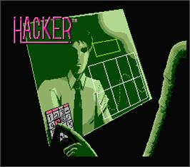 Title screen of Hacker on the MSX 2.