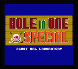 Title screen of Hole in One Special on the MSX 2.