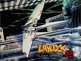 Title screen of Laydock 2: Last Attack on the MSX 2.
