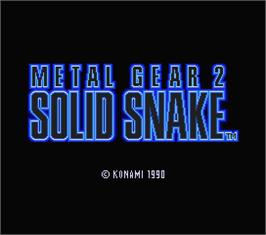Title screen of Metal Gear 2: Solid Snake on the MSX 2.