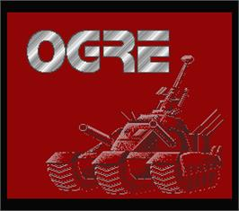 Title screen of Ogre on the MSX 2.