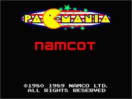 Title screen of Pac-Mania on the MSX 2.
