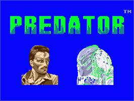 Title screen of Predator: Soon the Hunt Will Begin on the MSX 2.
