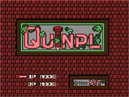 Title screen of Quinpl on the MSX 2.