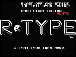 Title screen of R-Type on the MSX 2.