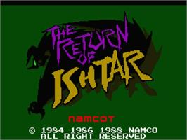 Title screen of Return of Ishtar, The on the MSX 2.