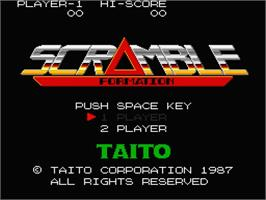 Title screen of Scramble Formation on the MSX 2.