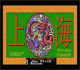 Title screen of Shanghai on the MSX 2.
