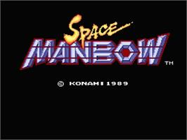 Title screen of Space Manbow on the MSX 2.