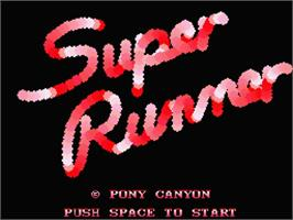 Title screen of Super Cobra on the MSX 2.