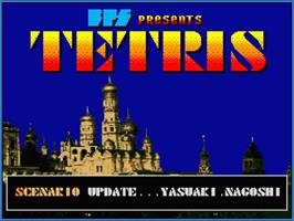 Title screen of Tetris on the MSX 2.