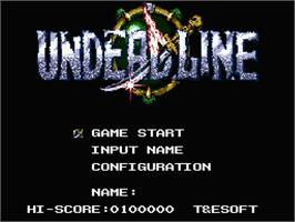 Title screen of Undead Line on the MSX 2.