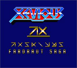 Title screen of Xevious: Fardraut Saga on the MSX 2.