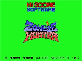 Title screen of Zombie Hunter on the MSX 2.