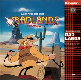 Box cover for Bad Lands on the MSX Laserdisc.