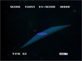 In game image of Astron Belt on the MSX Laserdisc.