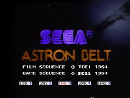 Title screen of Astron Belt on the MSX Laserdisc.