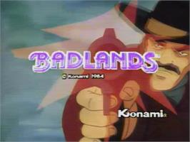 Title screen of Bad Lands on the MSX Laserdisc.