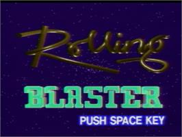 Title screen of Rolling Blaster on the MSX Laserdisc.