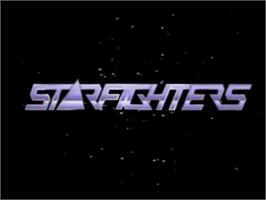 Title screen of Starfighters on the MSX Laserdisc.
