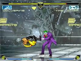 In game image of DC vs Capcom vs Marvel on the MUGEN.