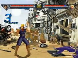 In game image of Hokuto no Ken on the MUGEN.