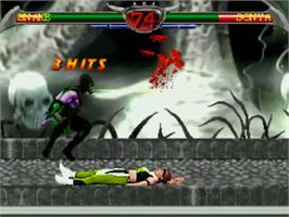 In game image of Mortal Kombat Anthology on the MUGEN.