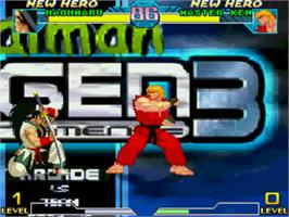 In game image of Mugen Tournament 3 on the MUGEN.