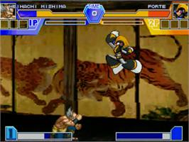 In game image of Namco X Capcom Brawlers on the MUGEN.