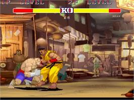 In game image of Street Fighter Legends on the MUGEN.
