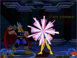 In game image of Super Heroes Mugen on the MUGEN.