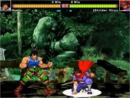 In game image of World Heroes on the MUGEN.