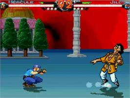 In game image of World Warriors X on the MUGEN.