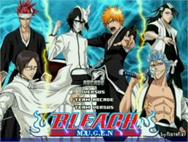 Title screen of Bleach Mugen on the MUGEN.
