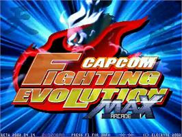 Title screen of Capcom Fighting Evolution Max on the MUGEN.