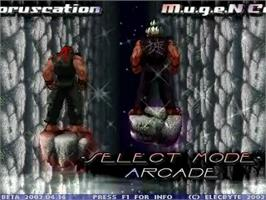 Title screen of Coruscation Mugen on the MUGEN.