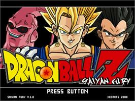 Title screen of DBZ Saiyan Fury 09 on the MUGEN.