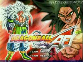 Title screen of Dragon Ball AF on the MUGEN.