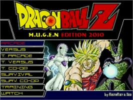 Title screen of Dragon Ball M.U.G.E.N Edition 2010 on the MUGEN.