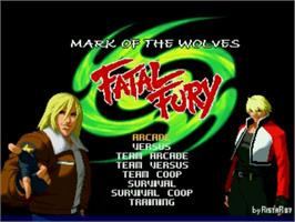Title screen of Fatal Fury - Mark of the Wolves on the MUGEN.