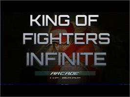Title screen of King Of Fighters Infinite on the MUGEN.