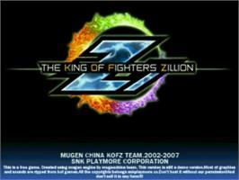Title screen of King of Fighters Zillion on the MUGEN.