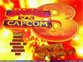 Title screen of Marvel vs Capcom 3 - Last Rise of Heroes on the MUGEN.