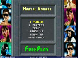Title screen of Mortal Kombat 1 on the MUGEN.