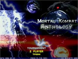 Title screen of Mortal Kombat Anthology on the MUGEN.