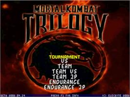 Title screen of Mortal Kombat Trilogy on the MUGEN.