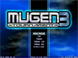 Title screen of Mugen Tournament 3 on the MUGEN.