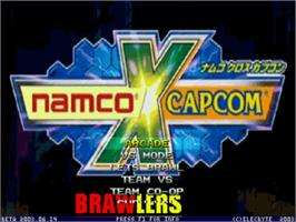Title screen of Namco X Capcom Brawlers on the MUGEN.